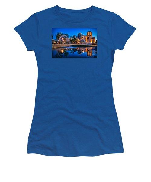 Downtown San Diego Waterfront Park Women's T-Shirt (Junior Cut) by Sam Antonio Photography