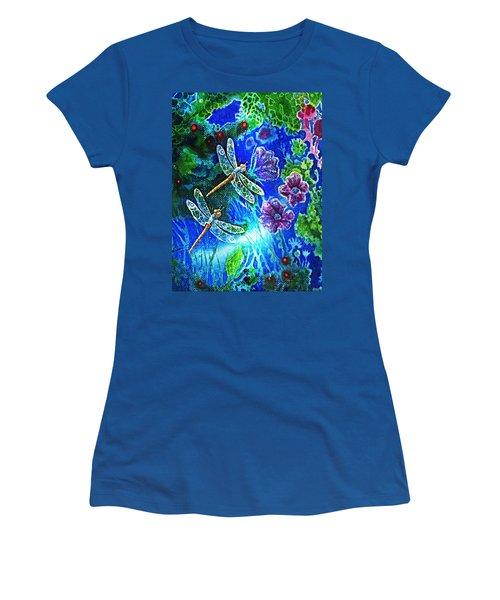 Dragonflies Women's T-Shirt (Junior Cut) by Hartmut Jager