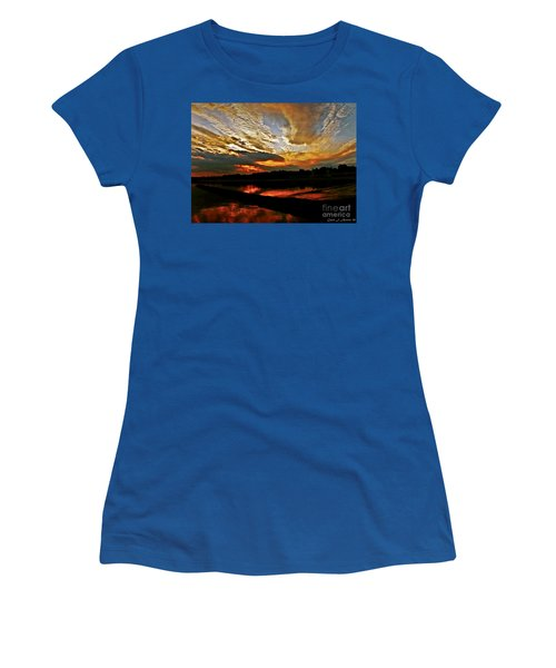 Drama In The Sky At The Sunset Hour Women's T-Shirt (Athletic Fit)