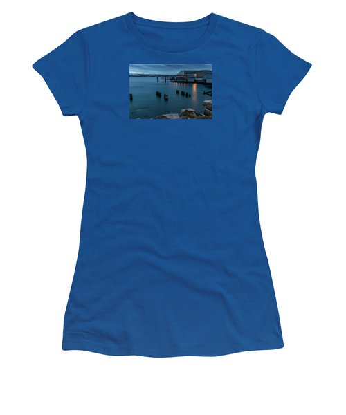 Dusk Falls Over The Lobster Shop Women's T-Shirt (Junior Cut) by Rob Green