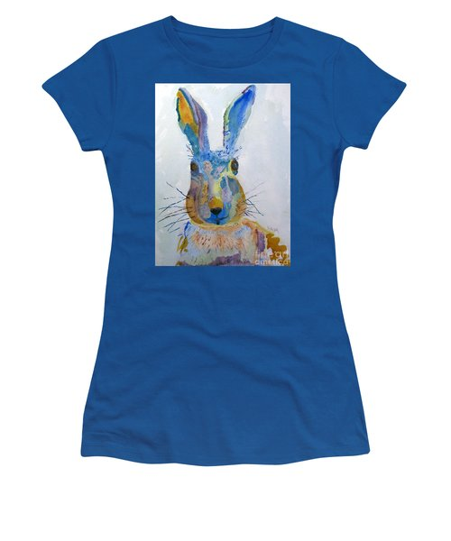 Easter Bunny Women's T-Shirt (Junior Cut) by Sandy McIntire