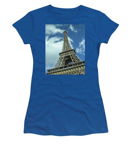 Women's T-Shirt (Junior Cut) featuring the photograph Eiffel Tower by Allen Sheffield