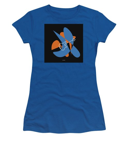 Electric Bass In Blue Women's T-Shirt (Athletic Fit)