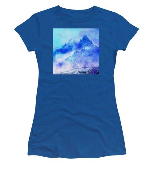 Women's T-Shirt (Junior Cut) featuring the digital art Enchanted Scenery #4 by Klara Acel