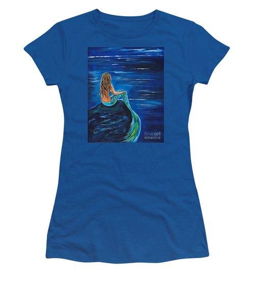 Evening Tide Mermaid Women's T-Shirt (Junior Cut) by Leslie Allen