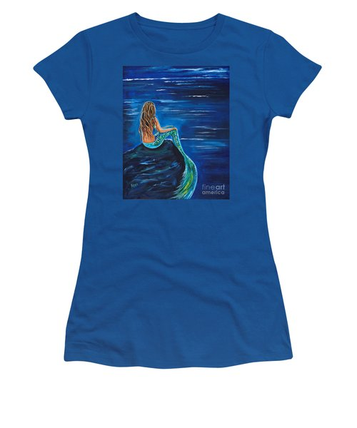 Evening Tide Mermaid Women's T-Shirt (Athletic Fit)