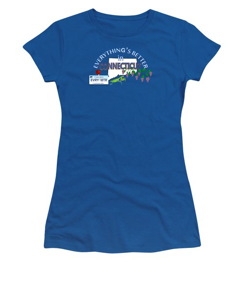 Everything's Better In Connecticut Women's T-Shirt (Athletic Fit)