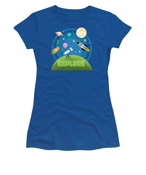 Explore Space Women's T-Shirt (Athletic Fit)