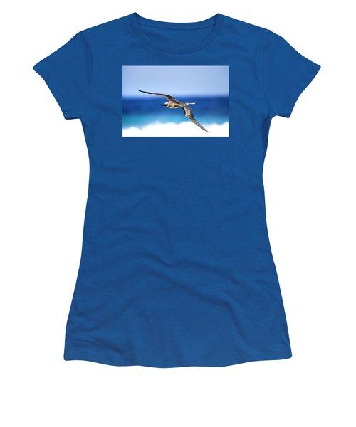Eye Contact Women's T-Shirt (Junior Cut) by Sean Davey