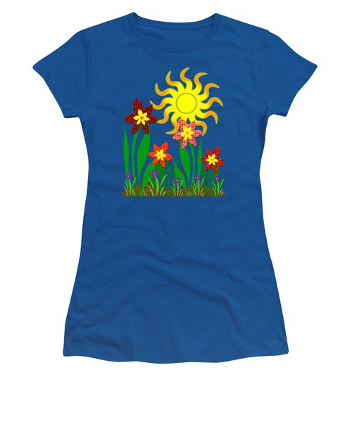 Fanciful Flowers Women's T-Shirt (Junior Cut) by Shawna Rowe