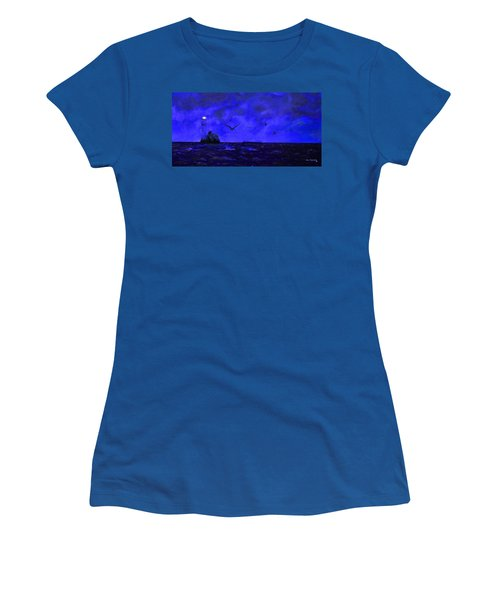 Fastnet Light Ireland Night Women's T-Shirt (Athletic Fit)