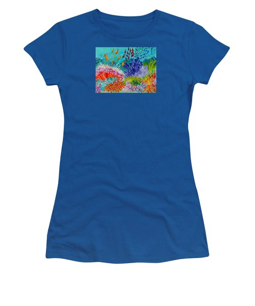 Feeding Time On The Reef #2 Women's T-Shirt (Junior Cut) by Lyn Olsen