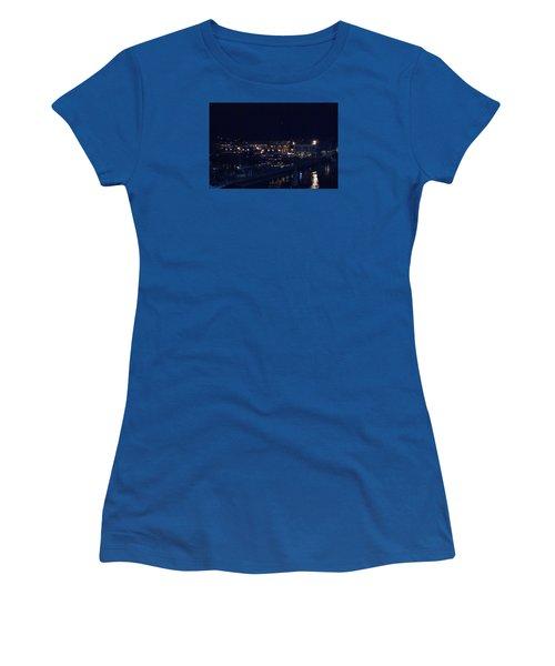 Festive Harbor Lights Women's T-Shirt (Junior Cut) by Margie Avellino