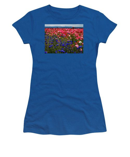 Fields Of Flowers Women's T-Shirt (Athletic Fit)