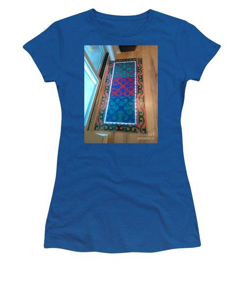 Floor Cloth Arabesque Women's T-Shirt (Junior Cut) by Judith Espinoza