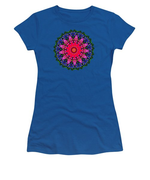 Floral Kaleidoscope By Kaye Menner Women's T-Shirt (Athletic Fit)