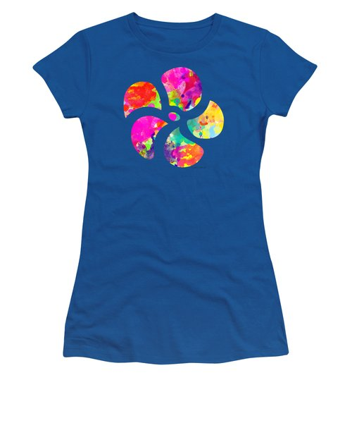 Flower Power 1 - Tee Shirt Design Women's T-Shirt (Junior Cut) by Debbie Portwood