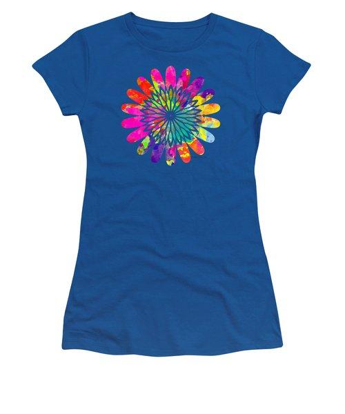 Flower Power 3 - Tee Shirt Design Women's T-Shirt (Junior Cut) by Debbie Portwood