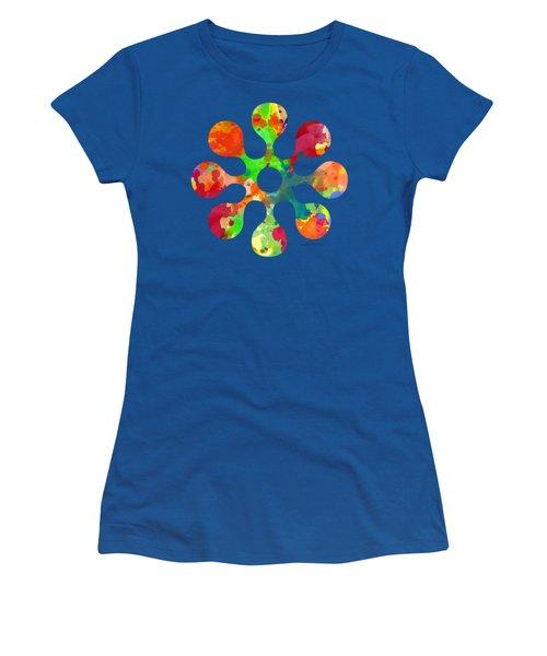 Flower Power 4 - Tee Shirt Design Women's T-Shirt (Junior Cut) by Debbie Portwood