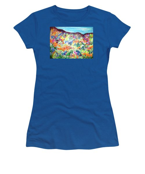 Flowering Hills Women's T-Shirt (Junior Cut) by Esther Newman-Cohen