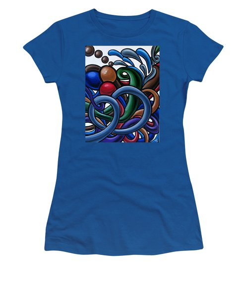 Colorful Abstract Art Painting Chromatic Water Artwork Women's T-Shirt