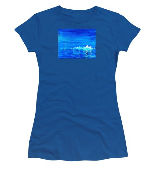 Fort Myers By Night Women's T-Shirt (Athletic Fit)