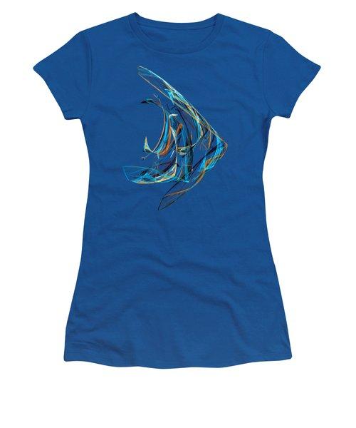 Fractal - Angelfish Women's T-Shirt (Junior Cut)