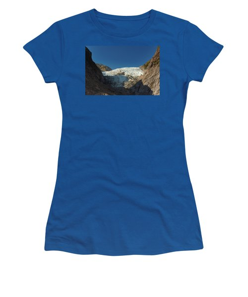 Women's T-Shirt (Athletic Fit) featuring the photograph Franz Josef Glacier by Gary Eason