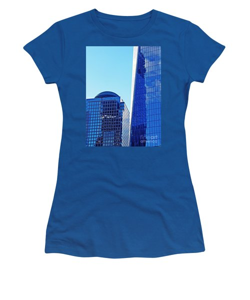 Women's T-Shirt (Junior Cut) featuring the photograph Freedom Tower And 2 World Financial Center by Sarah Loft