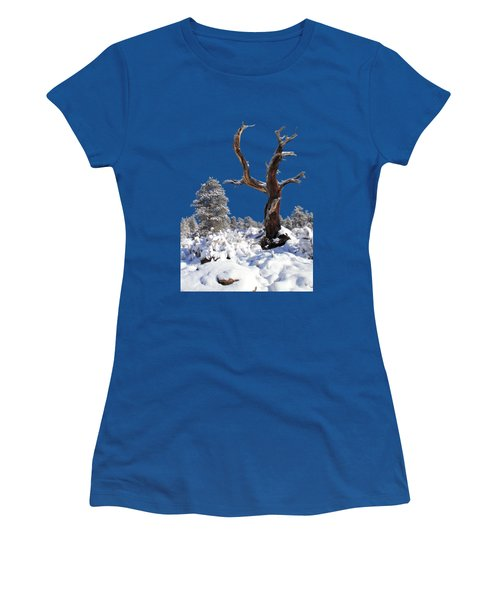 Women's T-Shirt (Junior Cut) featuring the photograph Fresh Snow by Shane Bechler