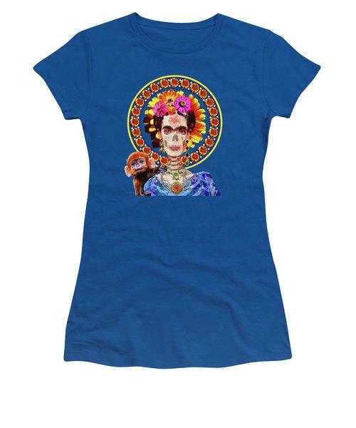 Frida De Muertos Women's T-Shirt (Athletic Fit)