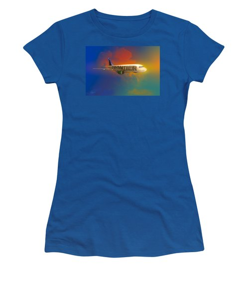 Frontier Airbus A-319 Women's T-Shirt (Junior Cut) by J Griff Griffin