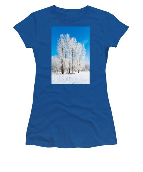 Frosty Wonderland Women's T-Shirt (Athletic Fit)