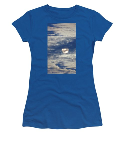 Full Moon In Gemini With Clouds Women's T-Shirt