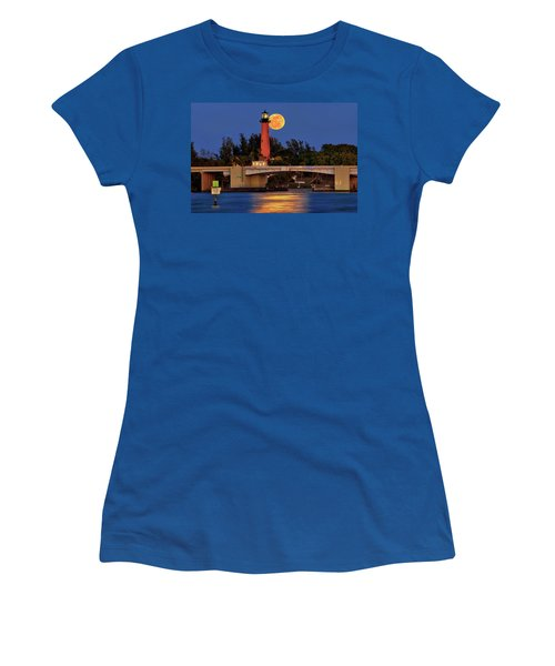 Full Moon Over Jupiter Lighthouse, Florida Women's T-Shirt