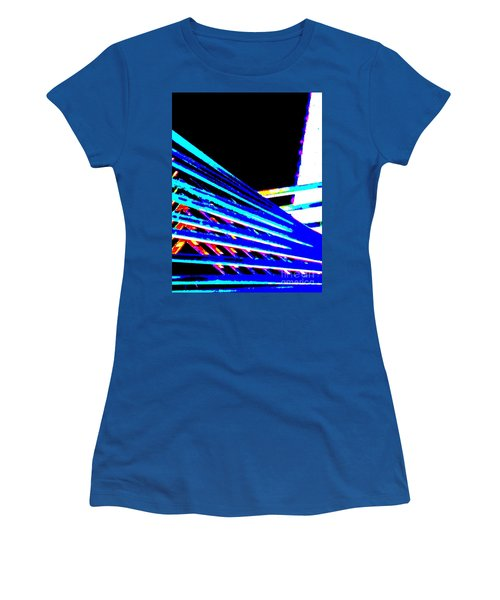 Geometric Waves Women's T-Shirt (Athletic Fit)