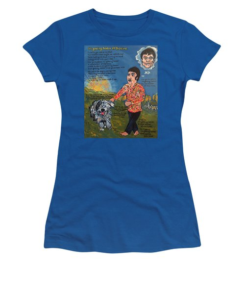 Getting Better Women's T-Shirt (Athletic Fit)
