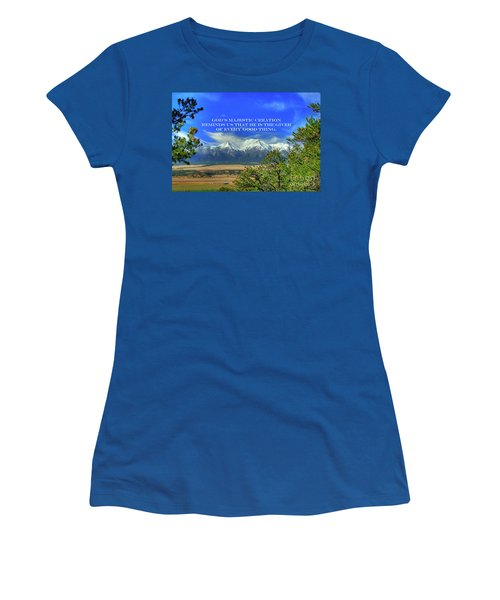 God's Majestic Creation Women's T-Shirt (Athletic Fit)