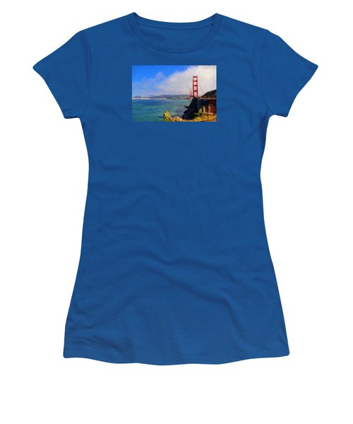 Golden Gate Women's T-Shirt (Junior Cut) by Greg Norrell