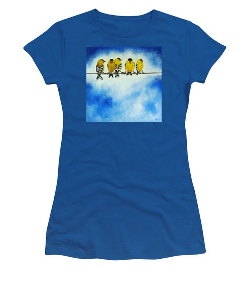 Goldfinch On A Wire Women's T-Shirt