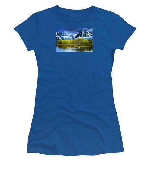 Grand Teton National Park Women's T-Shirt (Athletic Fit)