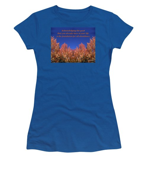 Gratitude Is The Foundation For Abundance Women's T-Shirt