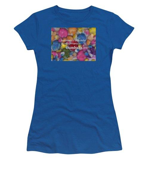Gumballs #0000d Women's T-Shirt (Junior Cut) by Barbara Tristan