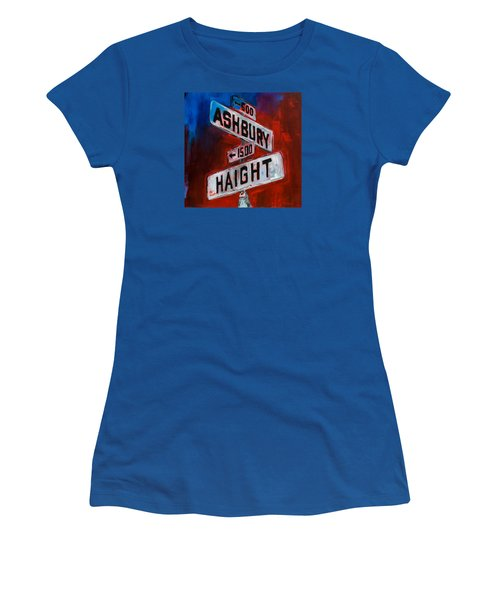 Haight And Ashbury Women's T-Shirt (Athletic Fit)