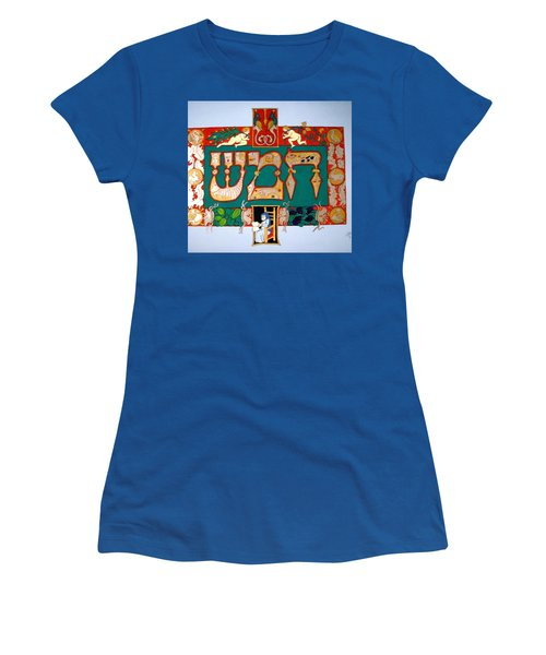 Women's T-Shirt (Junior Cut) featuring the painting Hamesh by Stephanie Moore