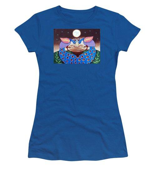 Happiness In Sharing Women's T-Shirt (Junior Cut) by Ragunath Venkatraman