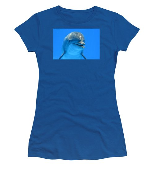 Happy Smiling Dolphin Women's T-Shirt (Junior Cut) by Richard Bryce and Family