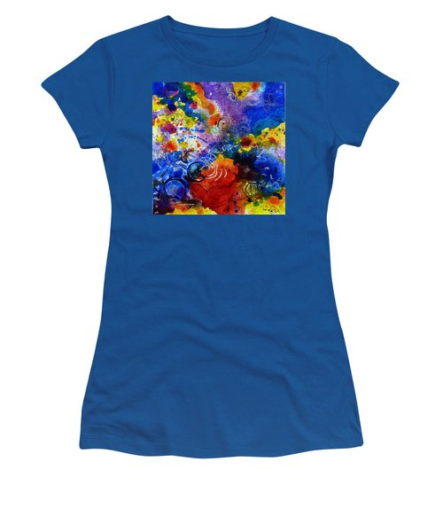 Head Over Feet Women's T-Shirt (Junior Cut) by Tracy Bonin