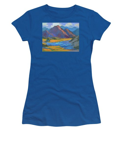 Women's T-Shirt (Junior Cut) featuring the painting Henderson Canyon Borrego Springs by Diane McClary