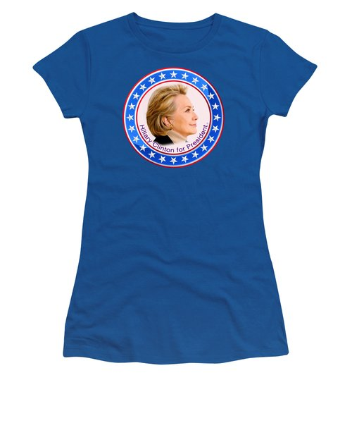 Hillary For President Women's T-Shirt (Junior Cut) by The Art Angel Don